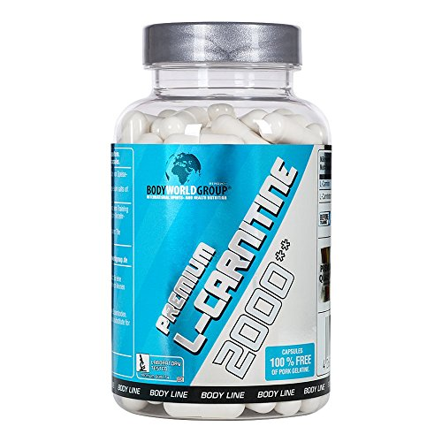 BWG Premium L-Carnitine 2000, sehr hochdosiert, rein (3000 mg L-Carnitintartrat Tagesportion), Definitionsphase, Body Line, 100 Kapseln, 1er Pack (1 x 100g Dose)