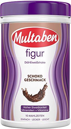 Multaben Diät Shake, proteinreicher Abnehm-Shake für eine Eiweiß-Diät, Schoko, 430 g