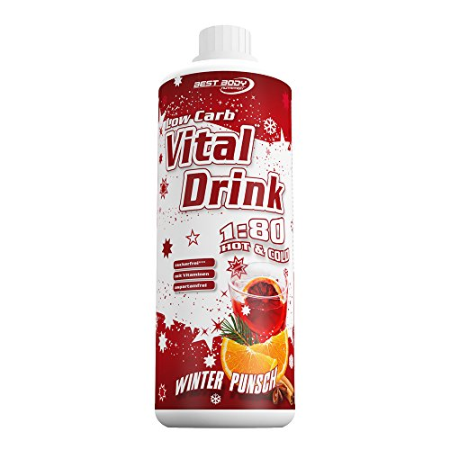 Best Body Nutrition Low Carb Vital Drink Winter Punsch Limited Edition+, 1000 ml