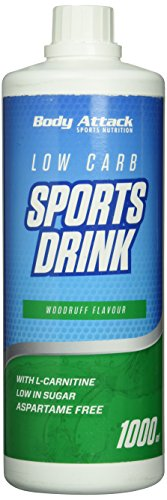 Body Attack Low Carb Sports Drink, Waldmeister, 1er Pack (1x 1000ml)