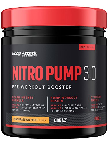 Body Attack Nitro Pump 3.0, Peach-Passion, 400 g