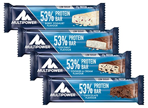 Multipower 53% Protein Bar, Mix Box, 24 Stück, 1-er Pack (1 x 1,2 KG)