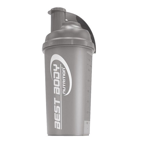 Best Body Nutrition Eiweiß Shaker 700ml, black steel