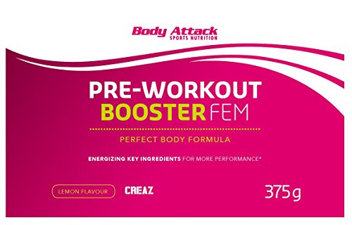 Body Attack Pre-Workout Booster Fem, Lemon, 375 g