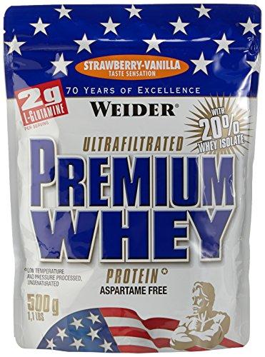 Weider, Premium Whey Protein, Erdbeer-Vanille, 1er Pack (1x 500g)