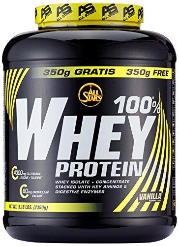 All Stars 100% Whey Protein, Vanille, 1er Pack (1 x 2350 g)