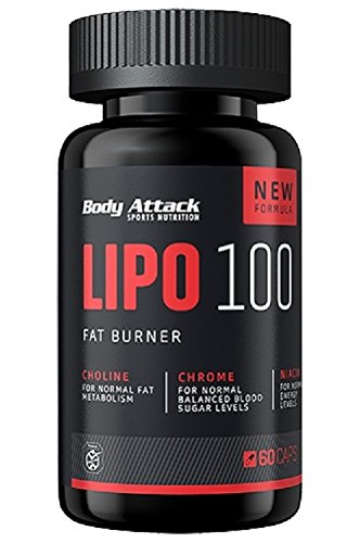 Body Attack LIPO 100 Fat Burner, 60 Kapseln, 1er Pack (1 x 51 g)