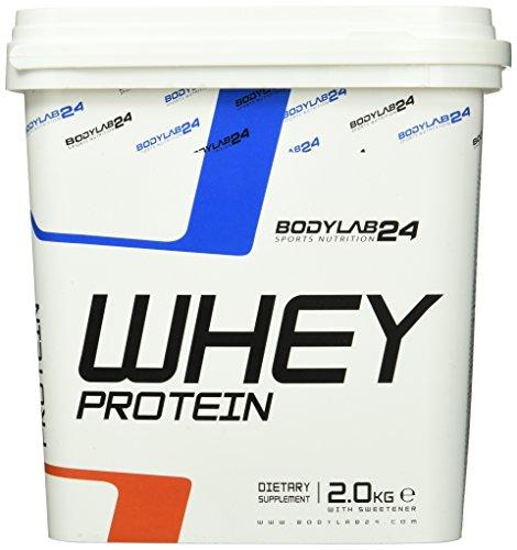 Bodylab24 Whey Protein Erdbeere2000g mit Messlöffel