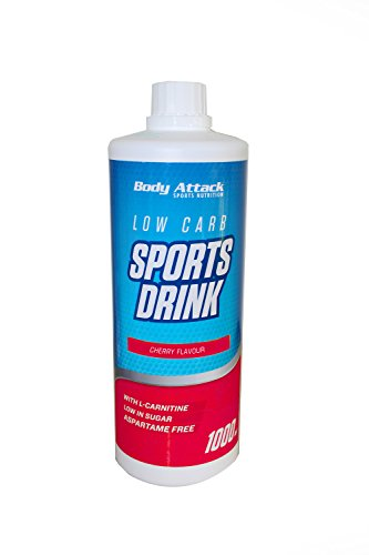Body Attack Low Carb Sports Drink, Kirsche, 1er Pack (1x 1000ml)