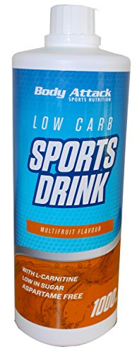 Body Attack Low Carb Sports Drink, Multifrucht, 1er Pack (1x 1000ml)