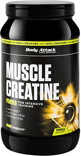 Body Attack Muscle Creatine, 1er Pack (1 x 1 kg)