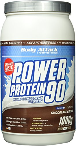 Body Attack, Power Protein 90, Chocolate Cream, 1er Pack (1x 1000g)
