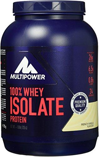 Multipower 100% Whey Isolate Protein – Vanille – 750 g Pack – Whey Proteinpulver enthält essentielle Aminosäuren (BCAA) – 25 g Eiweiß pro Portion – ideales Eiweißpulver für einen Proteinshake