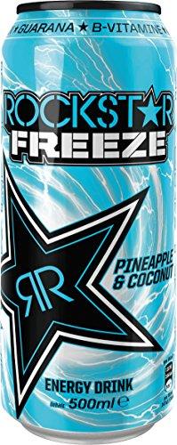 Rockstar Energy Drink Pineapple & Coconut Freeze, 6er Pack (6 x 500 g)