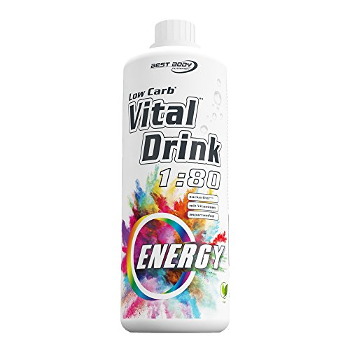 Best Body Nutrition Low Carb Vital Drink Energy Sirup 60 mg Koffein, 1000 ml