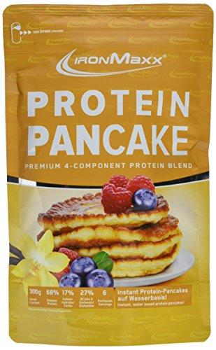 IronMaxx Protein Pancake Vanille / Low Carb Pancakes mit über 65% Eiweiß / Leckere Pfannkuchen-Backmischung mit 4-Komponenten Protein / 1 x 300 g
