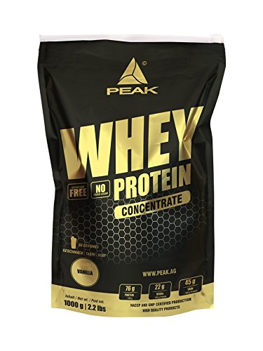 Peak Whey Concentrate 1000 g Beutel Vanille