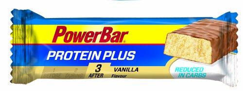 Premium Protein Riegel Reduced in Carbs von Powerbar | Low Sugar Fitness-Riegel reich an Ballaststoffen | Cremige Konsistenz und Sensationeller Geschmack – 30 x 35g VANILLA