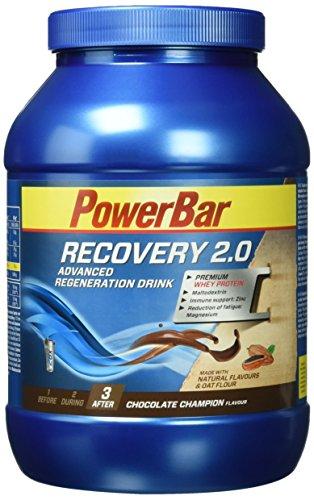 Premium Regeneration Drink mit Whey & Kohlenhydrate von Powerbar | Protein-Pulver mit Hafermehl, Vitaminen, Zink und Magnesium | Für Muskelaufbau & Regeneration - 1,144kg CHOCOLATE CHAMPION