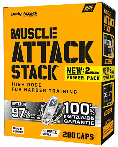 Body Attack Muscle Stack, 280 Kapseln