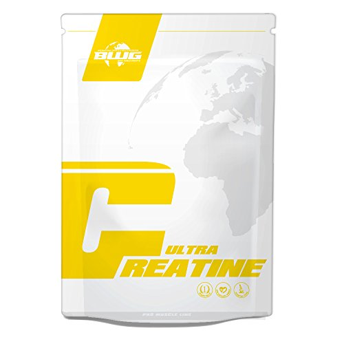 BWG 100% Ultra Creatine Monohydrat Pulver, Premiumqualität, Made in Germany, Muskelaufbau, Vegan, zur Unterstützung für Kraftsport, Bodybuilding, Ausdauer (1 x 500g Beutel)