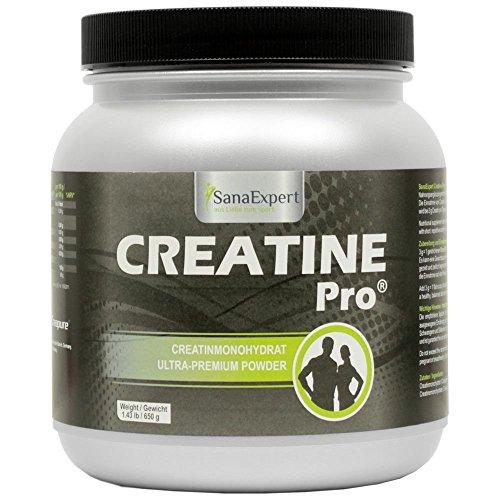 SanaExpert Creatine Pro (Creapure ®), Sportgetränk für 215 Portionen, 100% Creatin Monohydrat, Kreatin-Pulver, 650g