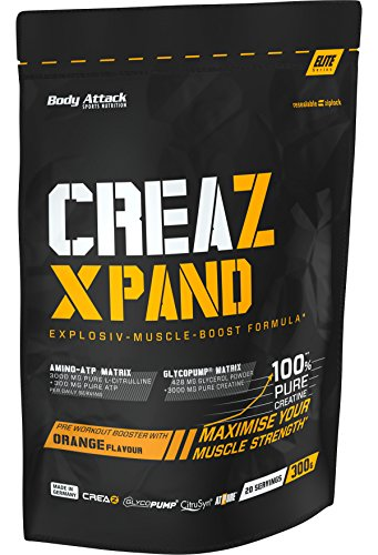 Body Attack CREAZ XPAND – Orange Flavour, 300 g