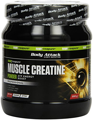 Body Attack Muscle Creatine, 1er Pack (1 x 500 g)