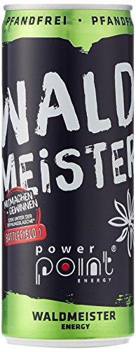 Power Point Energy Drink Waldmeister, 24er Pack (24 x 250 ml)