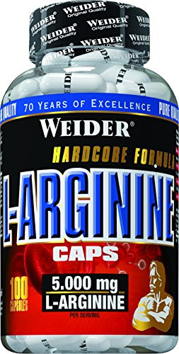 Weider, L-Arginine Caps, Neutral, 1er Pack (1x 100 Kapseln)