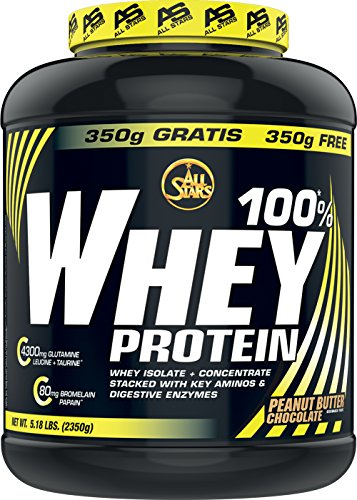 All Stars 100 Prozent Whey Protein, Peanut Butter Chocolate, 1er Pack (1 x 2350 g)