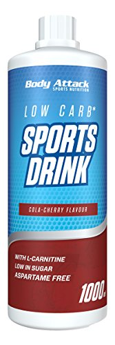 Body Attack Low Carb Sports Drink, Cola-Cherry, 1000 ml