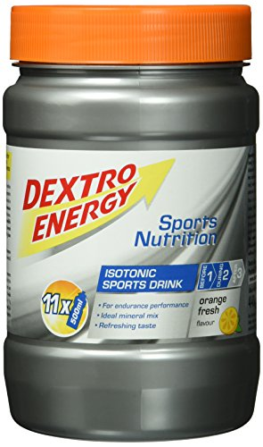 Dextro Energy Iso Drink Orange Fresh / Isotones Fitness-Getränkepulver mit Kohlenhydraten & Mineralstoffen für Ausdauersportler / 1 Dose (440g)