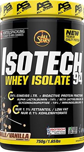All Stars Isotech Whey-Isolat, Vanille, 1er Pack (1 x 750 g)