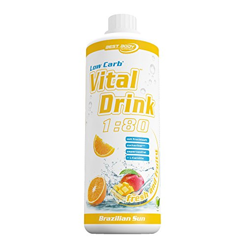 Best Body Nutrition - Low Carb Vital Drink, Brazilien Sun, 1000 ml Flasche
