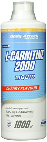 Body Attack L-Carnitine Liquid 2000  Cherry, 1er Pack (1 x 1 l)