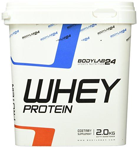 Bodylab24 Whey Protein Eiweißpulver, Geschmack: Cookies & Cream, hochwertiges Proteinpulver, Low Carb Eiweiß-Shake für Muskelaufbau und Fitness, 2000g