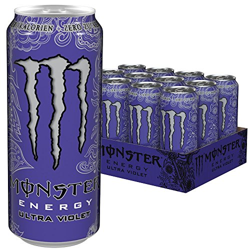 Monster Energy Ultra Violet Dose, 12er Pack (12 x 500 ml)