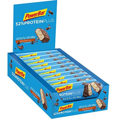 PowerBar Whey und Sojaprotein – Low Sugar Eiweiß-Riegel, Chocolate Nut, 20 Stück