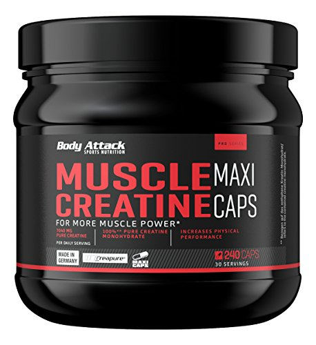 Body Attack Muscle Creatine (Creapure) 240 Maxi Kapseln, 1er Pack (1 x 0.279 kg)