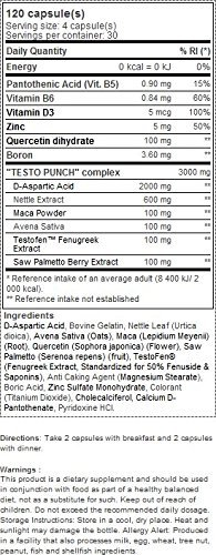 Scitec Nutrition Head Crusher Testo Punch 120 Kapseln, 1er Pack (1 x 116 g)