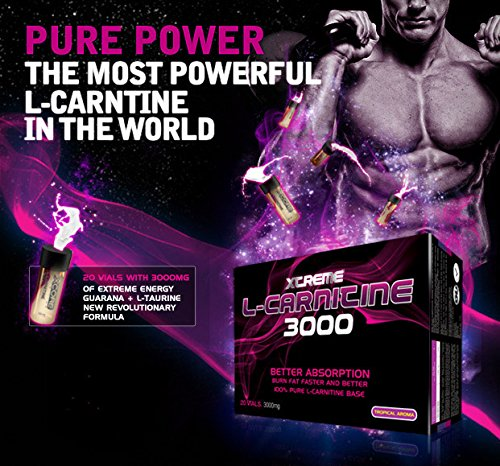 Xcore Nutrition Xtreme L-Carnitine 3000 mg, 20 vials Lemon