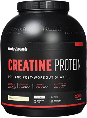 Body Attack Creatine Protein, Vanille (1 x 2 kg)