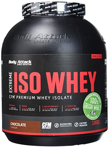 Body Attack Extreme ISO Whey, Chocolate, 1er Pack (1 x 1,8 kg)