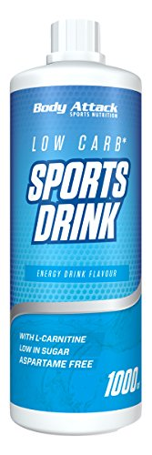 Body Attack Low Carb Sports Drink, Energy, 1000 ml