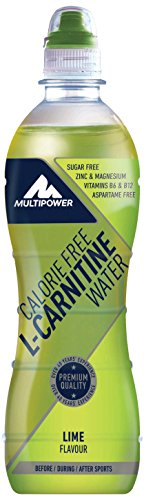 Multipower L-Carnitine Energy Getränk, Water Lime (12 x 500 ml)