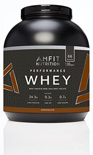 Amazon-Marke: Amfit Nutrition Performance Whey Protein Eiweißpulver (100% Molkenisolate) mit Schokogeschmack, 66 Portionen, 1980 g