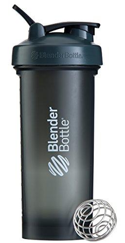 Blender Bottle Pro45 Protein Shaker / Wasserflasche / Sportflasche (1300 ml Fassungsvermögen, skaliert bis 1000ml) Transparent/Schwarz