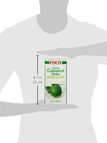 Foco Kokosnusswasser, Pur, 100% Kokosnusswasser Tetra, 3er Pack (3 x 1000 ml)