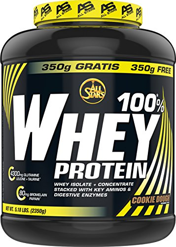 All Stars 100% Whey Protein, Cookie Dough, 1er Pack (1 x 2350 g)